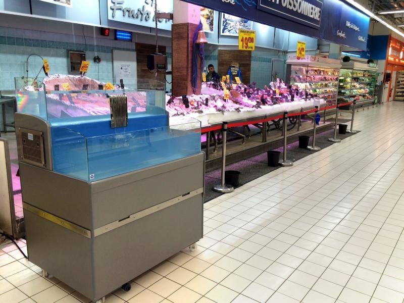vivier dans supermarché