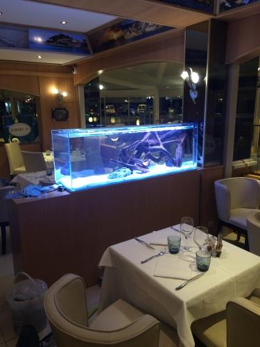 aquarium dans un restaurant